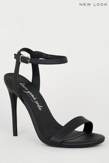 New Look Faux Leather Two Part Stiletto Heels