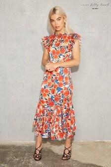 RRP £129. Hobbs Neve Maxi Peach Pink Dress Various Sizes