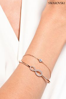 Swarovski Rose Gold Plated Infinity Bangle