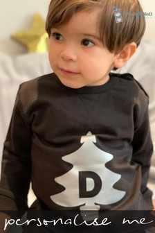 Personalised Organic Cotton Christmas Tree Sweatshirt by Percy & Nell