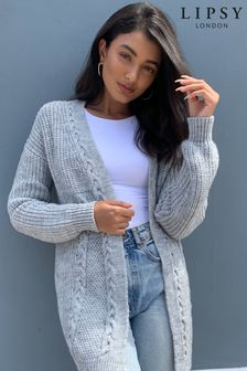 Lipsy Light Grey Cable Cardigan