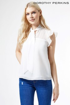 Doorthy Perkins Sleeveless Pussybow Top