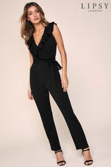 Lipsy Frill Detail Jumpsuit