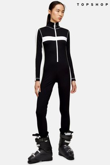 Topshop Snow All In One Jersey Ski Suit