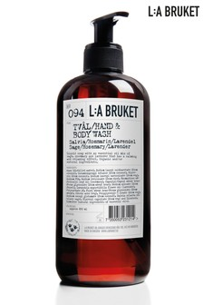 L:a Bruket Hand and Body Wash Sage, Rosemary & Lavender 450ml