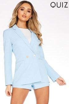 Quiz Double Breasted Blazer Jacket
