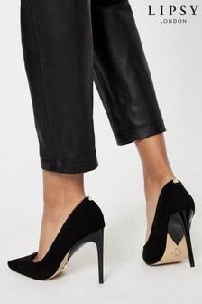 Lipsy Black Comfort High  Heel Court