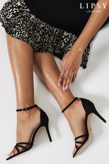 Lipsy Black Barely There Heeled Sandal