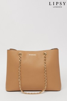 Lipsy Camel Chain Shopper Bag