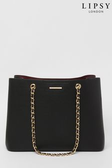 Lipsy Black Chain Shopper Bag