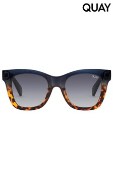 Quay Navy Tortoise After-Hours Sunglasses