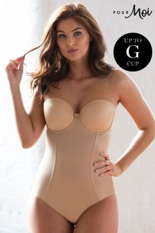 Pour Moi Nude Definitions Shapewear Strapless Control Body E+