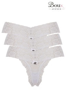 Boux Avenue White Lia Lacey Thong - Pack Of 3