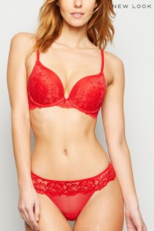 New Look Red Billy Lace Thong