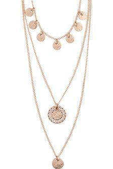 PILGRIM Rose Gold Arden Crystal Necklace