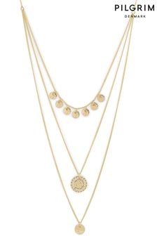PILGRIM Gold Arden Crystal Necklace