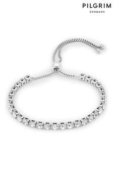 Pilgrim Silver Lucia Plated Crystal Bracelet