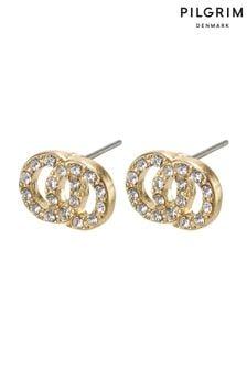 Pilgrim Gold Plated Crystal Earrings