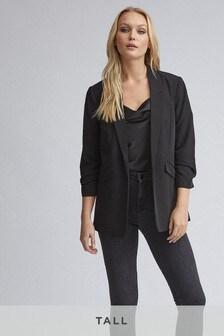 Dorothy Perkins Black Tall Ruched Sleeve Jacket