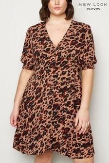 New Look Curve X Priella Animal Tea Dress