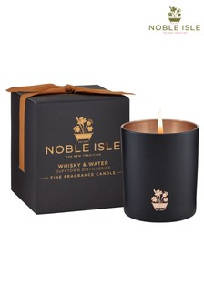 Noble Isle Whisky & Water Single Wick Candle - Dufftown Distilleries - Aromatic And Rich