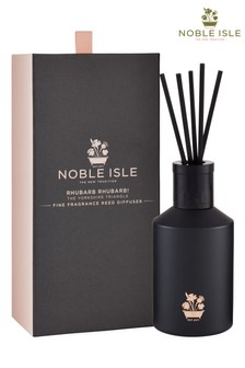 Noble Isle Rhubarb Rhubarb! Scented Reed Diffuser - The Yorkshire Triangle - Bittersweet, Evocative Aroma