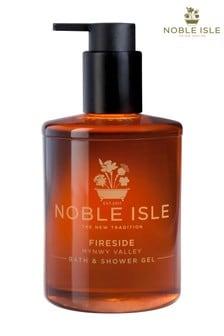 Noble Isle Fireside Luxury Bath & Shower Gel - Mynwy Valley - Warming And Sensual