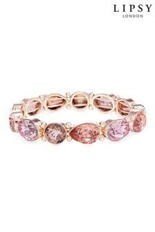 Lipsy Jewellery Rose Gold Plated Multi Stone Set Bracelet