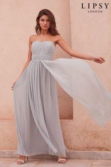 Lipsy Cornflower Blue Bella Multiway Bandeau Maxi Dress