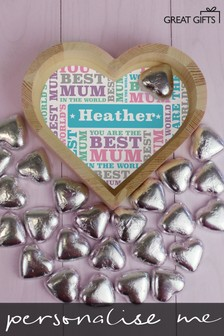 Personalised Best Mum - Small Love Heart Tray by Great Gifts