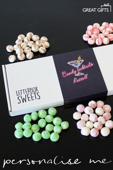 Personalised Candy Cocktails Letterbox Sweets by Great Gifts
