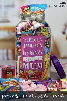 Personalised Mums Giant Retro Sweet Jar by Great Gifts