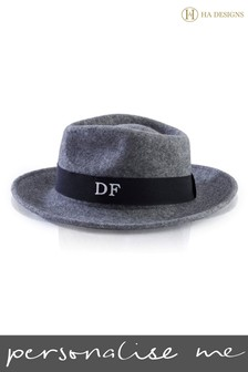 Personalised Felt Fedora Hat by HA Design