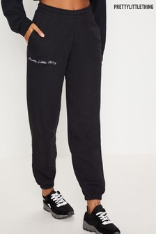 PrettyLittleThing Embroidered Jogger