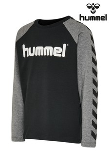 Hummel Black Chevron Long-Sleeve T-Shirt
