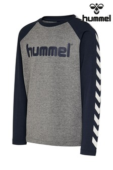 Hummel Grey Chevron Long-Sleeve T-Shirt