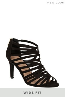 New Look Wide Fit Suede Heeled Sandals