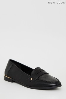 New Look Leather-Look Faux Snake Loafers