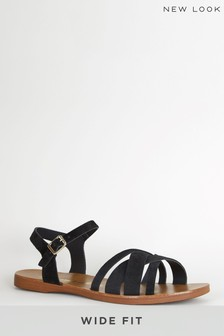 New Look Black Wide Fit Two-Part Sandal