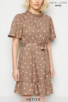New Look Petite Spot Roll Neck Mini Dress