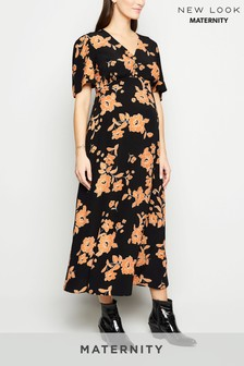 New Look Maternity Floral Button Through Dress