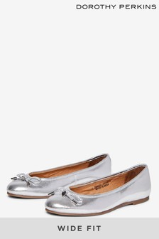 Dorothy Perkins Silver Wide Fit Paige Pumps