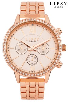 Lipsy Diamanté Chronograph Watch