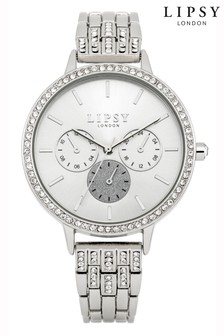 Lipsy Silver Diamante Chronograph Watch