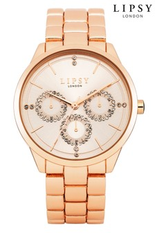 Lipsy Rose gold Chronogrpah Watch