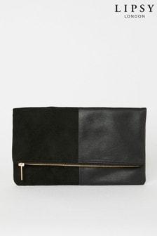Lipsy Black Foldover Bag