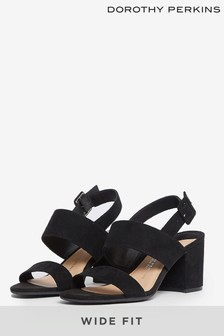 Dorothy Perkins Black Wide Two Strap Mule