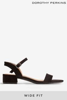 Dorothy Perkins Black Wide Fit Sprightly Sandal