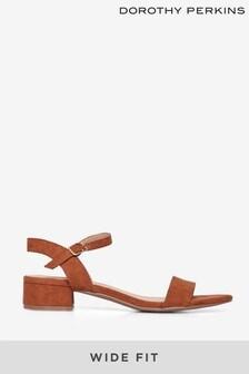 Dorothy Perkins Brown Wide Fit Sprightly Sandal