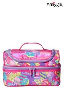Smiggle Pink Far Away Double Decker Lunchbox